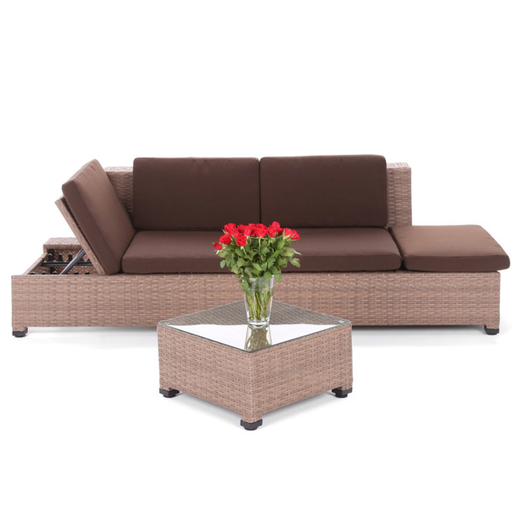 SOFA TECHNORATTANOWA MILANO BROWN DARK 2 W 1
